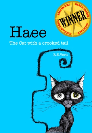 Haee The cat with a crooked tail book cover wins