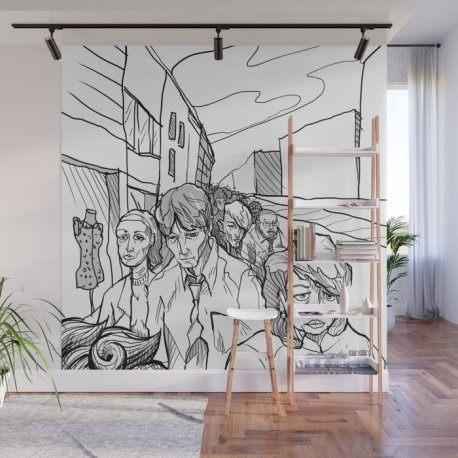 people-in-middling-city-wall-murals